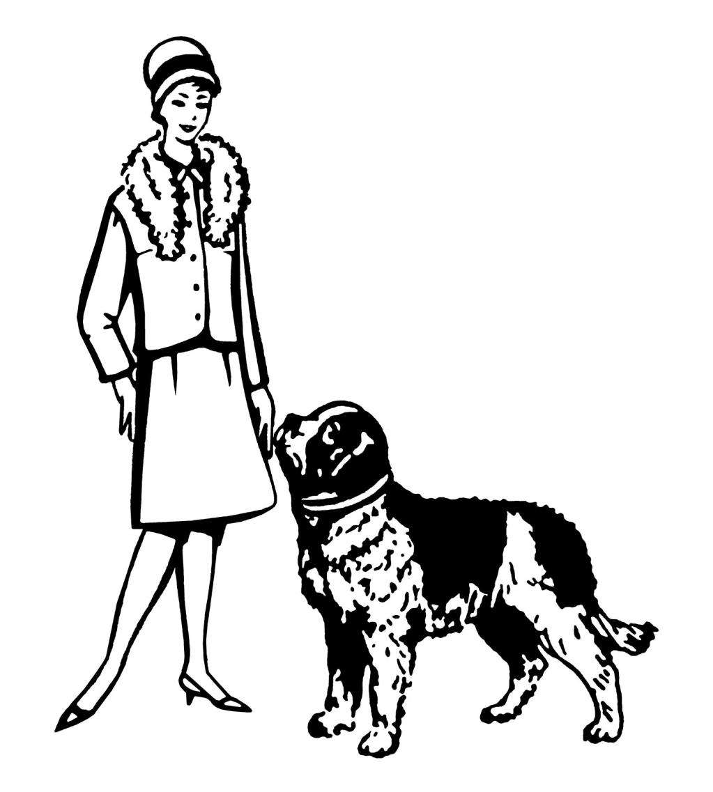 Well Dressed Woman With Dog