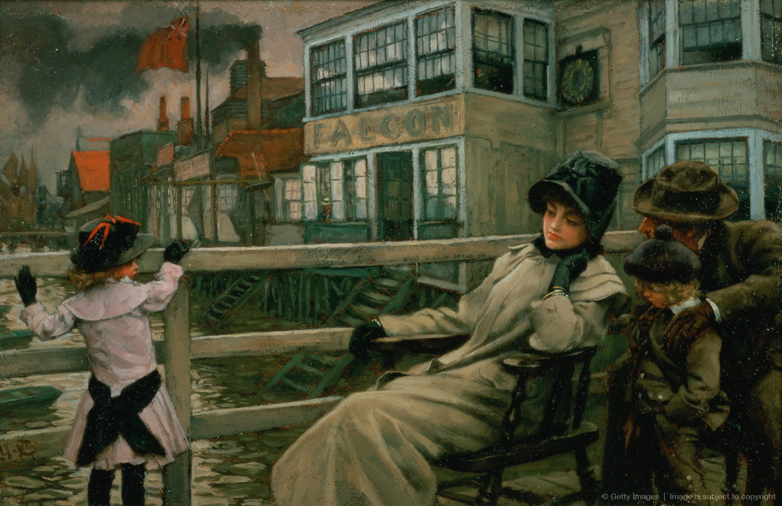 Waiting for the Ferry, c.1878 (panel)